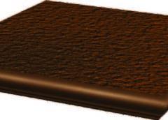 Cloud Brown Ступень угловая с носиком структ 33х33х1